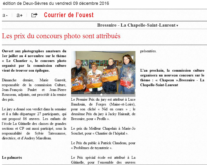 Concours Chantier 2016 LCSL